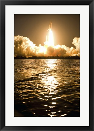 Framed Lift-Off of Space Shuttle Discovery Print
