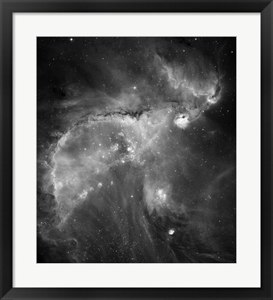 Framed NGC 346 and N66 in the Small Magellanic Cloud Print