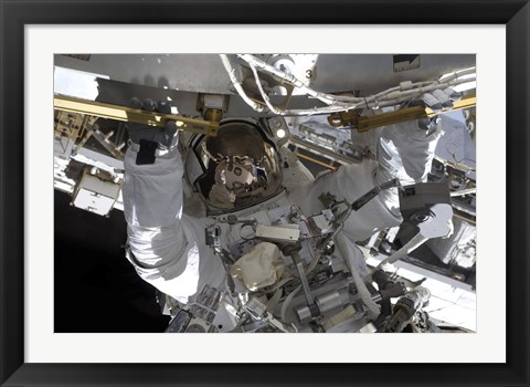 Framed Astronaut Doing  Extravehicular Activity Print