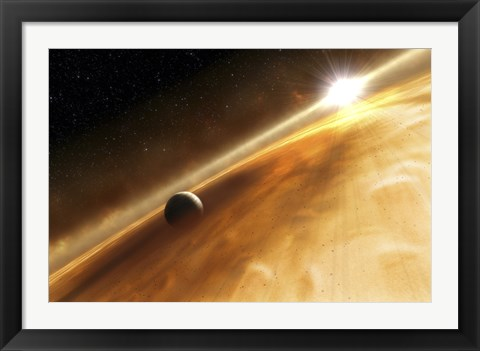 Framed Artist's Concept of the Star Fomalhaut and a Jupiter-Type Planet Print