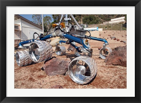 Framed Scarecrow, a Mobility-Testing Model for Mars Science Laboratory Print