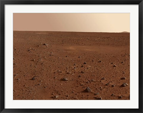 Framed Rocky Surface of Mars Print