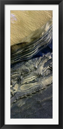 Framed Layers Exposed at Polar Canyon Print