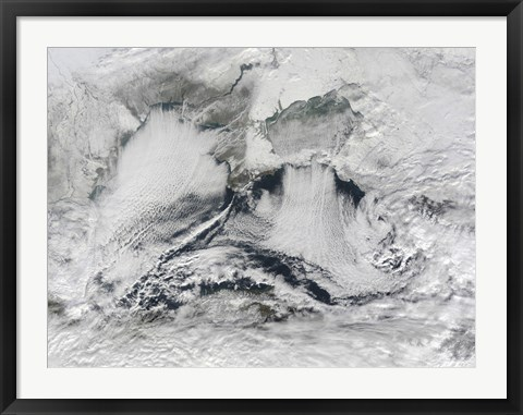 Framed Cloud Formation Over the Black Sea Print