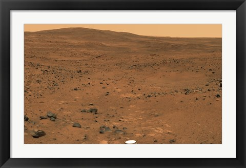 Framed Partial Seminole Panorama of Mars Print