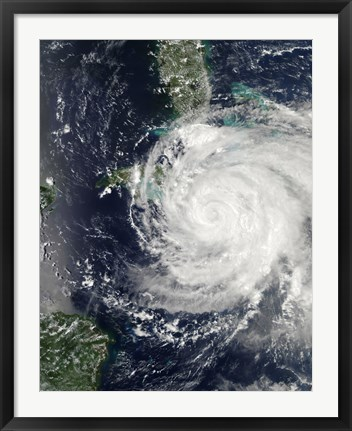 Framed Hurricane Ike over Cuba, Jamaica, and the Bahamas Print