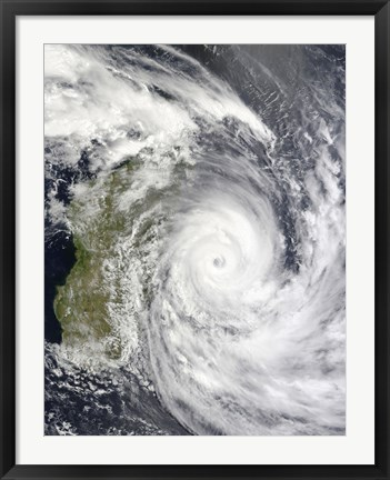 Framed Tropical Cyclone Gael off Madagascar Print
