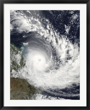 Framed Tropical Cyclone Hamish over Australia Print