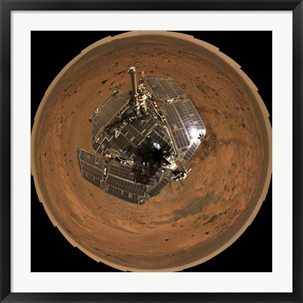 Framed Mars Exploration Rover on the Surface of Mars Print