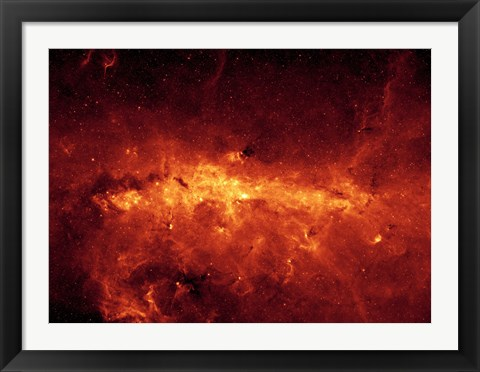 Framed Milky Way Center Aglow with Dust Print