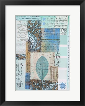 Framed Letters and Leaves II Print