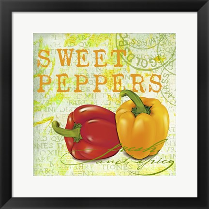 Framed Farmer's Market Sweet Pepper Print