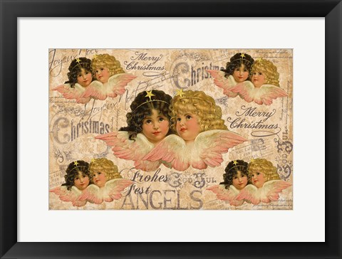 Framed Christmas Angels 1 Print