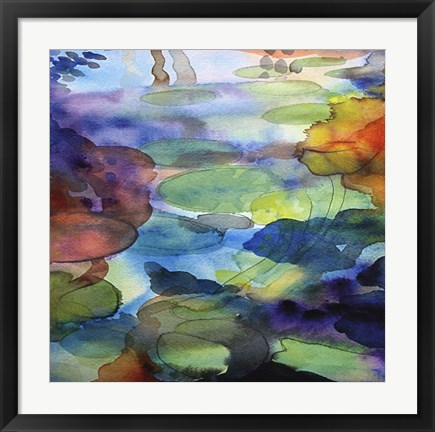 Framed Ornamental Pond 2 Print