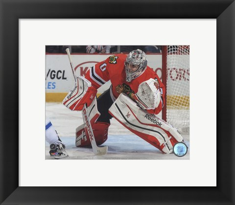 Framed Corey Crawford 2014-15 Action Print