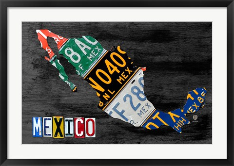 Framed Mexico Done Gray Print