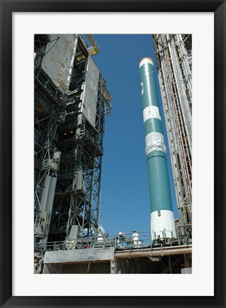 Framed Mobile Service Tower approaches the Delta II Rocket Print