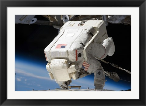 Framed Astronaut Engage in Extravehicular Activity Print