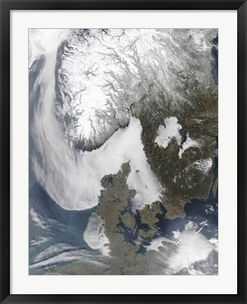 Framed Sea Fog in Scandinavia Print