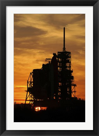 Framed Space Shuttle Atlantis on the Launch Pad Print