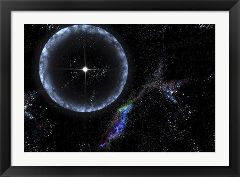 Framed Neutron Star SGR 1806-20 Producing a Gamma Ray Flare Print