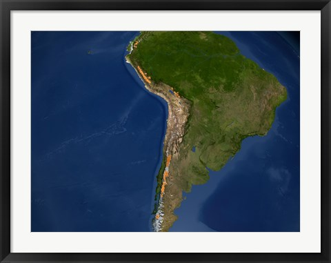 Framed Glaciers in Regions of South America Print