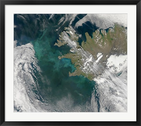 Framed Phytoplankton Bloom in the North Atlantic Ocean Print