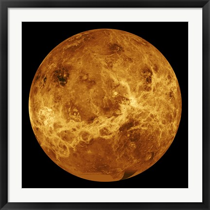 Framed Global view of the Surface of Venus Print