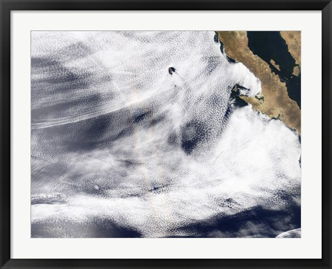 Framed Glory over the Pacific Ocean Print