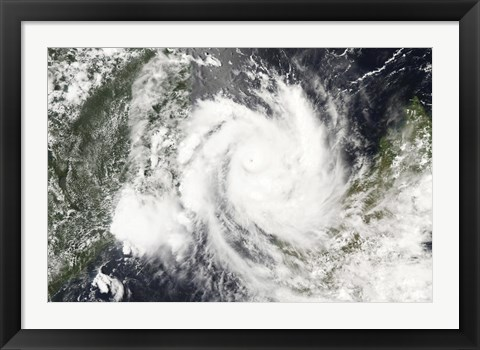 Framed Tropical Cyclone Jokwe Print