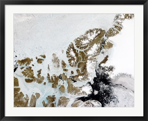 Framed Queen Elizabeth Islands in the Canadian Arctic Archipelago Print