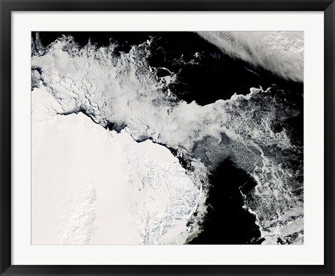 Framed Sea Ice in the Southern Ocean Print