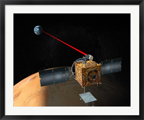 Framed Mars Telecommunications Orbiter Print