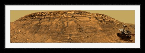 Framed Mars Exploration Rover Opportunity Inside Endurance Crater Print