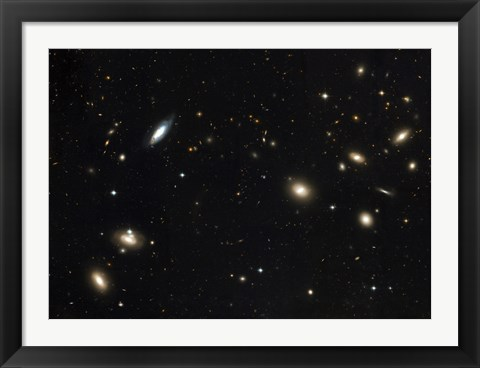 Framed Coma Cluster of galaxies Print