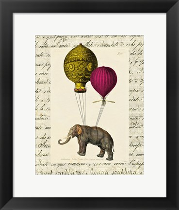 Framed Elephant Ride II Print