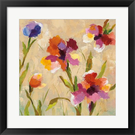 Framed Bold Bright Flowers III Print