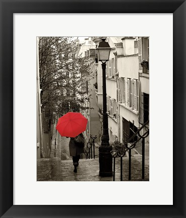 Framed Paris Stroll II Print