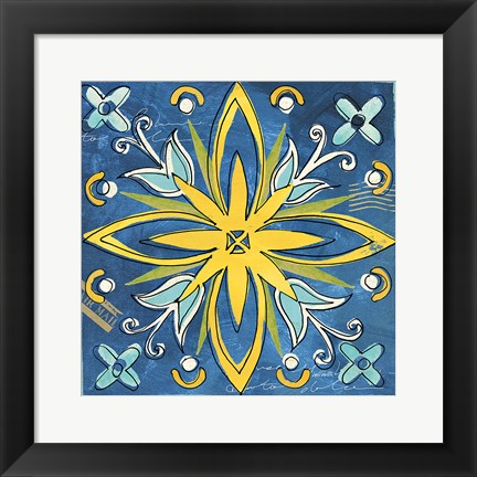 Framed Tuscan Sun Tile I Color Print