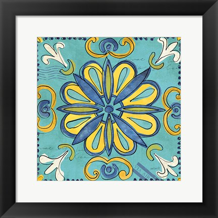 Framed Tuscan Sun Tile IV Color Print