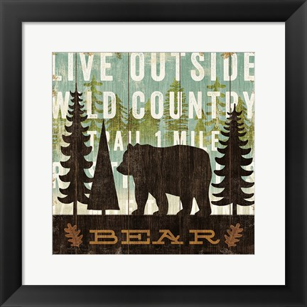 Framed Simple Living Bear Print