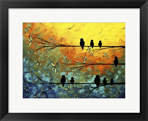 Framed Birds Of A Feather Print
