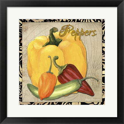 Framed Vegetables 1 Peppers Print