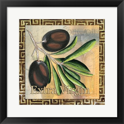 Framed Olive Oil 3 Print