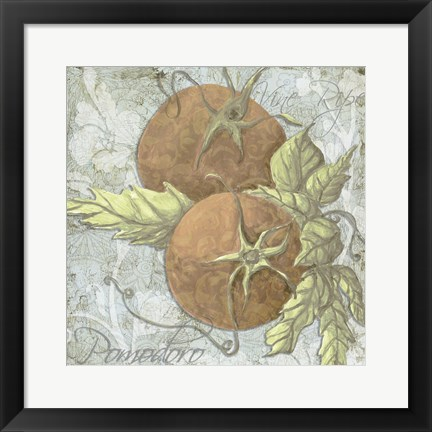 Framed Buon Appetito Tomatoes Print