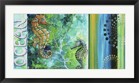 Framed Ocean Sea of Whimsy Print