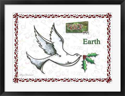 Framed Dove Peace On Earth Print