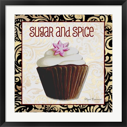 Framed Sugar And Spice Chocolat Cupcake Print