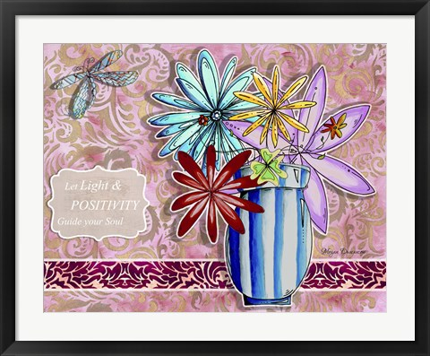 Framed Flower Pot 11 Print