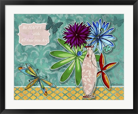 Framed Flower Pot 3 Print